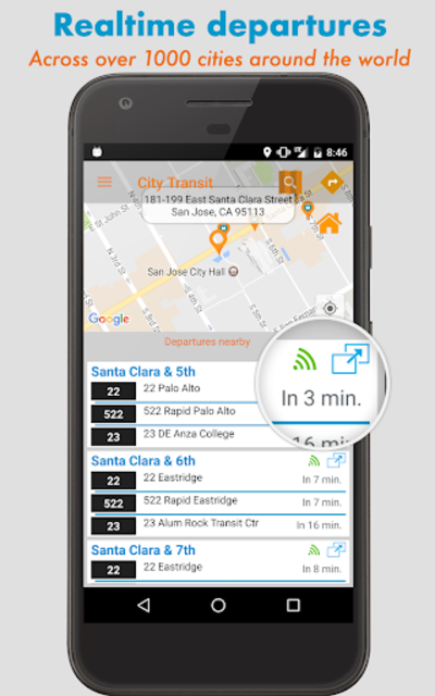 City Transit: Real-time departures, Routes, Tariff screenshot 9
