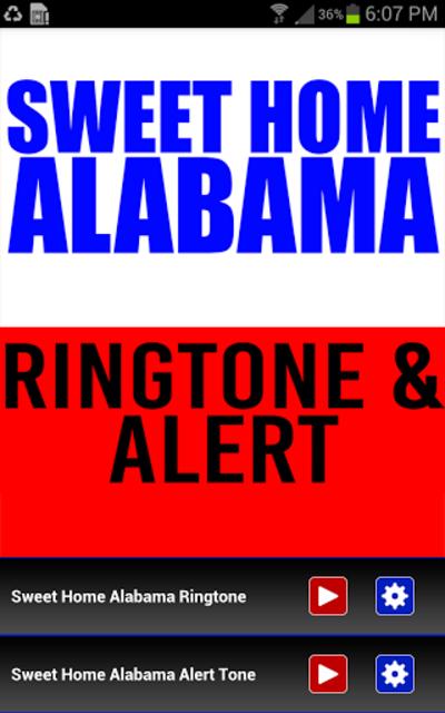 Sweet Home Alabama Ringtone screenshot 1
