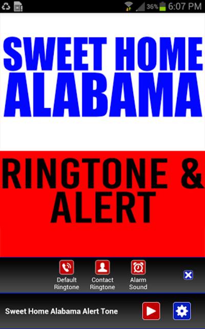 Sweet Home Alabama Ringtone screenshot 2