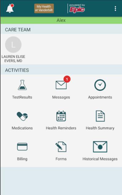 My Health at Vanderbilt screenshot 1