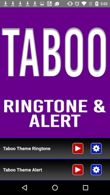 Taboo Theme Ringtone and Alert screenshot 2