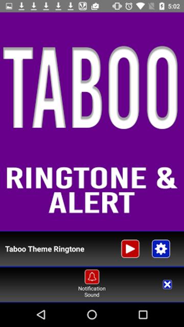Taboo Theme Ringtone and Alert screenshot 3
