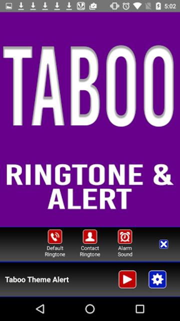 Taboo Theme Ringtone and Alert screenshot 4