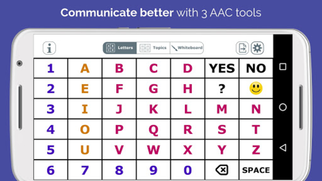AlphaTopics - AAC screenshot 1