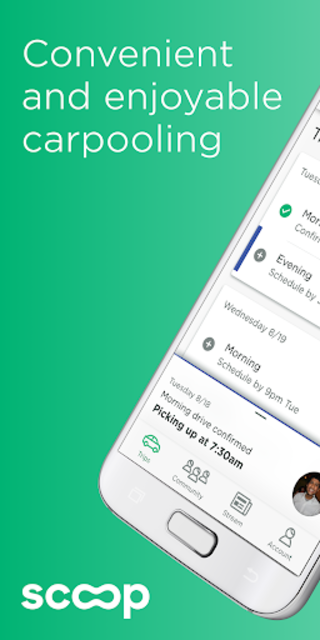 Scoop - Carpool with Co-Workers & Neighbors screenshot 1