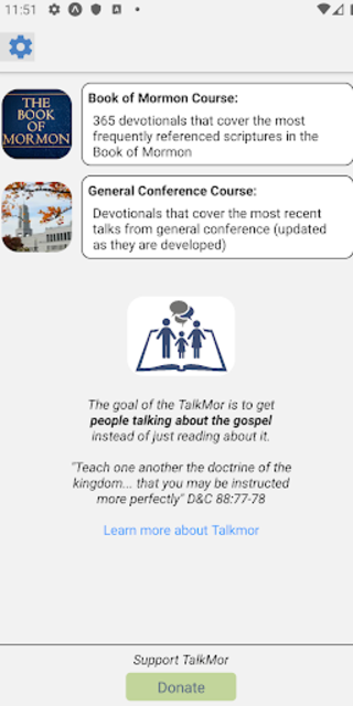 TalkMor: LDS Daily Devotional Book of Mormon/Gen.C screenshot 2