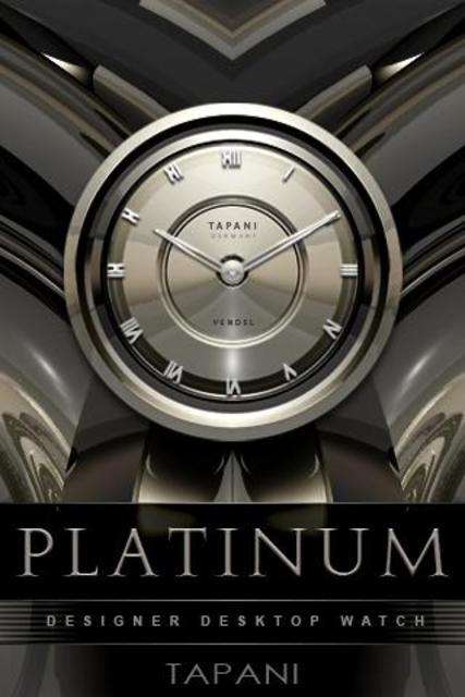 PLATINUM Designer Clock Widget screenshot 1