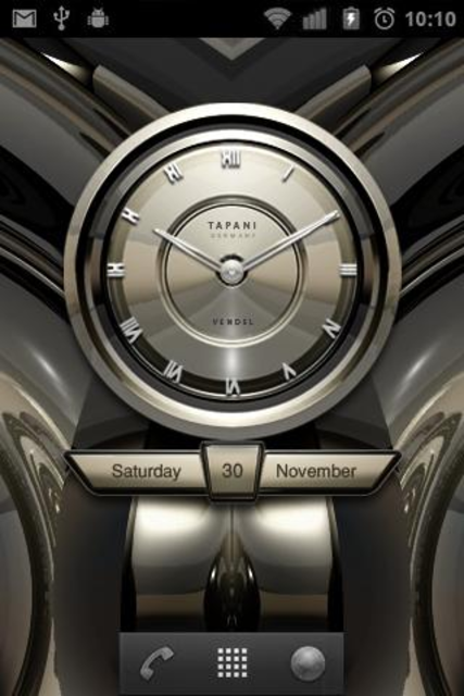 PLATINUM Designer Clock Widget screenshot 2