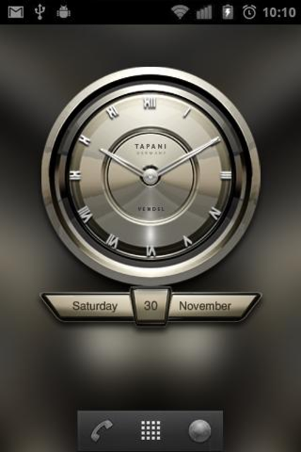 PLATINUM Designer Clock Widget screenshot 3