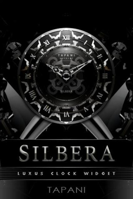SILVER MOON ALARM CLOCK WIDGET screenshot 1