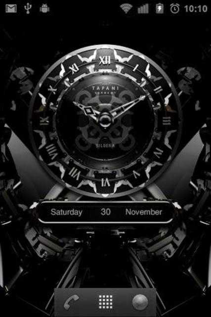 SILVER MOON ALARM CLOCK WIDGET screenshot 2