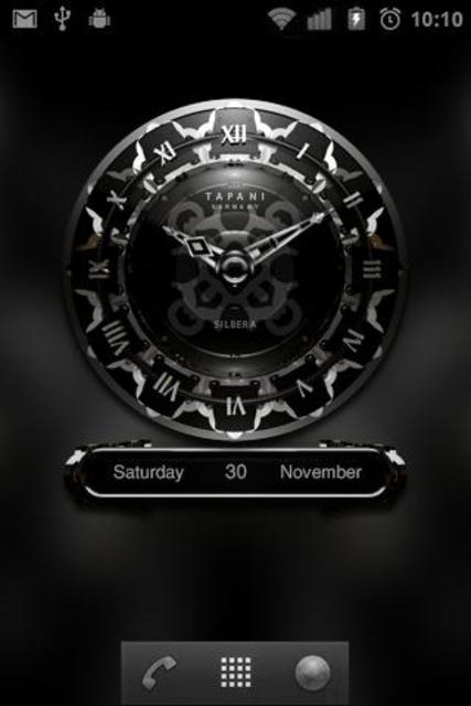 SILVER MOON ALARM CLOCK WIDGET screenshot 3