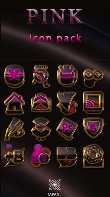 PINK icon pack pink glow black gold screenshot 1