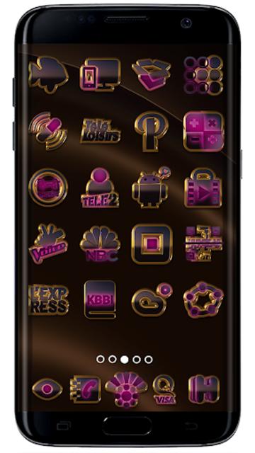 PINK icon pack pink glow black gold screenshot 2