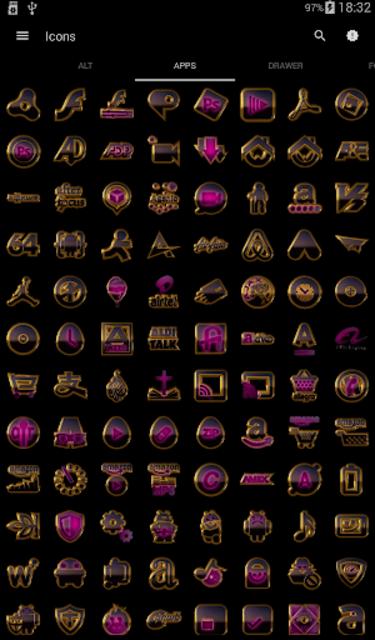 PINK icon pack pink glow black gold screenshot 4