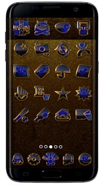 OCEAN icon pack blue black gold screenshot 2
