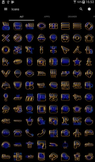 OCEAN icon pack blue black gold screenshot 3