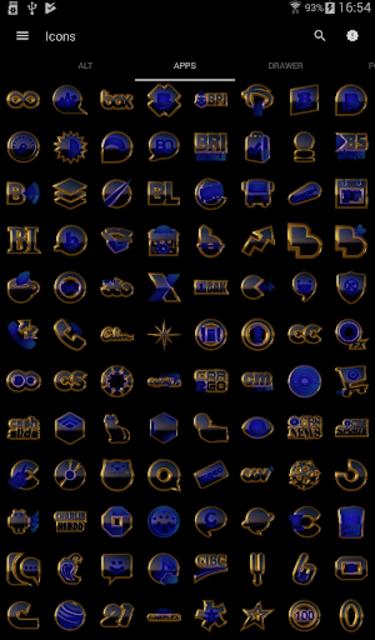 OCEAN icon pack blue black gold screenshot 4