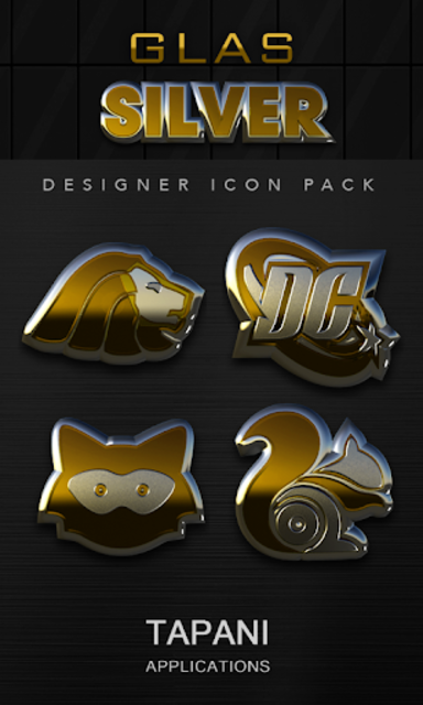 Gold silver glas icon pack 3D screenshot 1