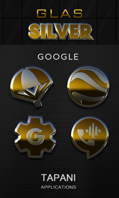 Gold silver glas icon pack 3D screenshot 3