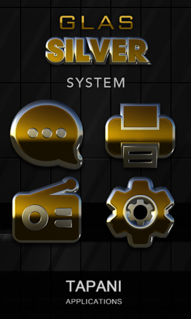 Gold silver glas icon pack 3D screenshot 4