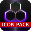 Icon for icon pack HD 3D glow purple