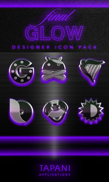 icon pack HD 3D glow purple screenshot 1