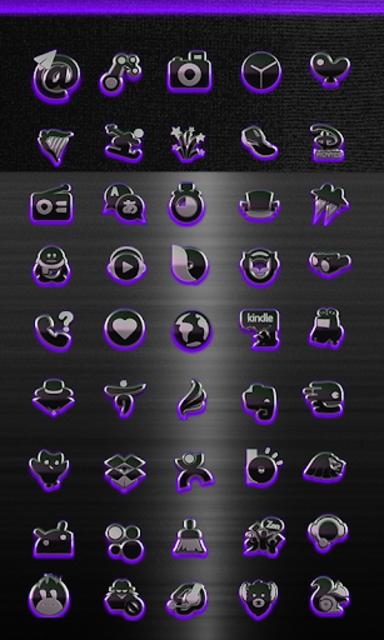 icon pack HD 3D glow purple screenshot 3