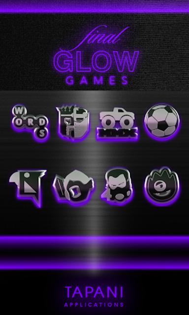 icon pack HD 3D glow purple screenshot 4