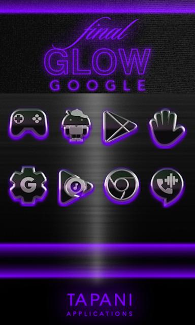 icon pack HD 3D glow purple screenshot 5