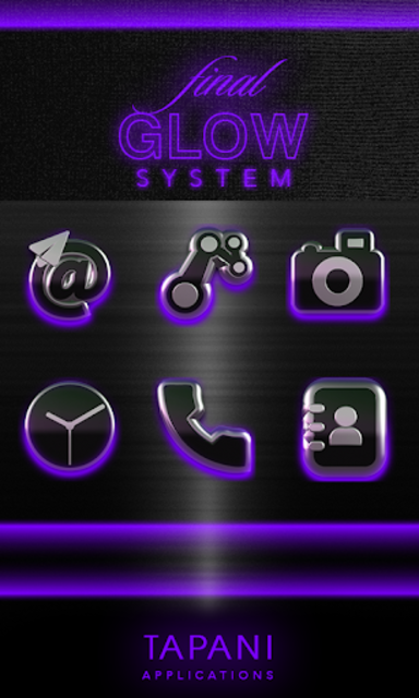 icon pack HD 3D glow purple screenshot 6