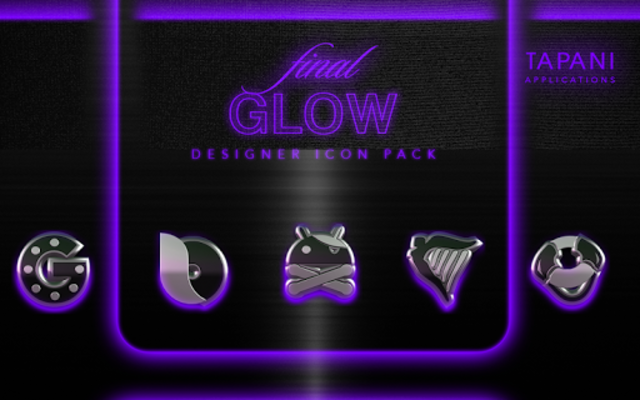icon pack HD 3D glow purple screenshot 7