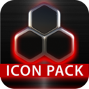 Icon for GLOW RED icon pack HD 3D