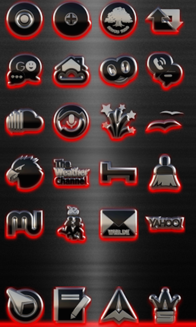 GLOW RED icon pack HD 3D screenshot 2