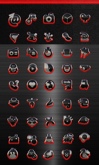 GLOW RED icon pack HD 3D screenshot 3