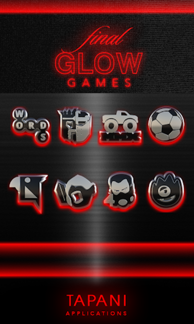 GLOW RED icon pack HD 3D screenshot 4