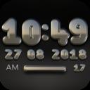 Icon for DUKE Digital Clock Widget  black silver