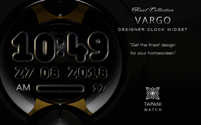 VARGO Digital Clock Widget black screenshot 3