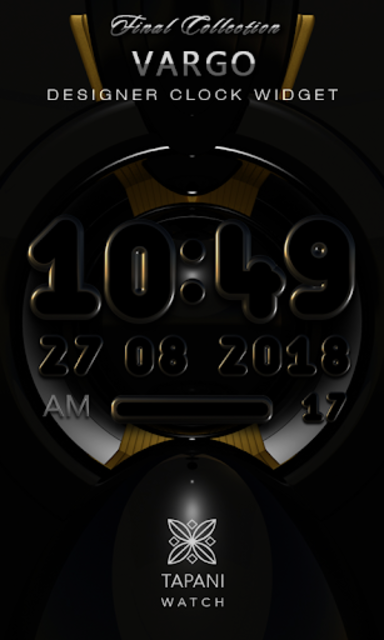 VARGO Digital Clock Widget black screenshot 1