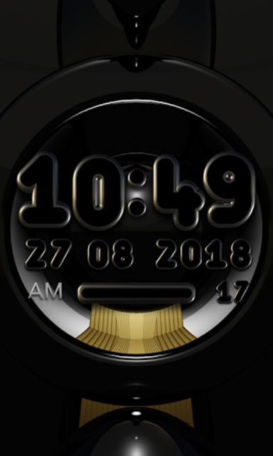 VARGO Digital Clock Widget black screenshot 2