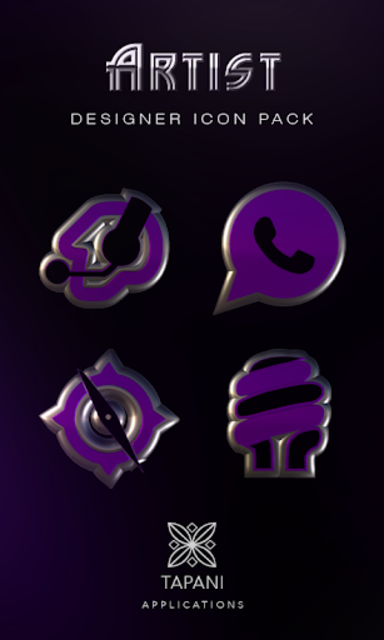 ARTIST purple HD Icon Pack screenshot 1