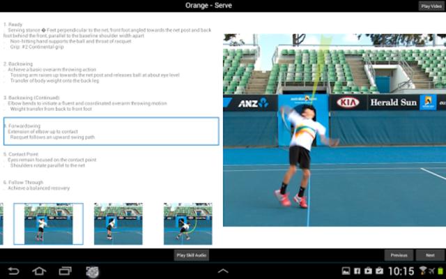 Tennis Australia Technique screenshot 8