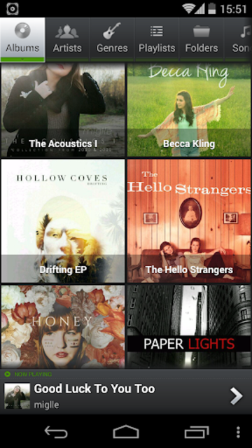 PlayerPro Music Player Legacy screenshot 1