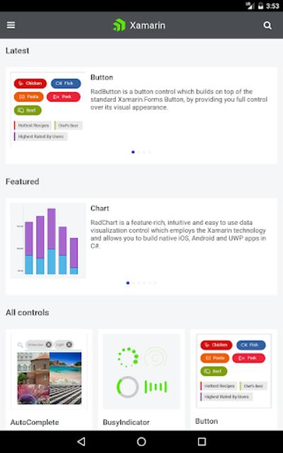 Telerik UI for Xamarin Samples screenshot 16