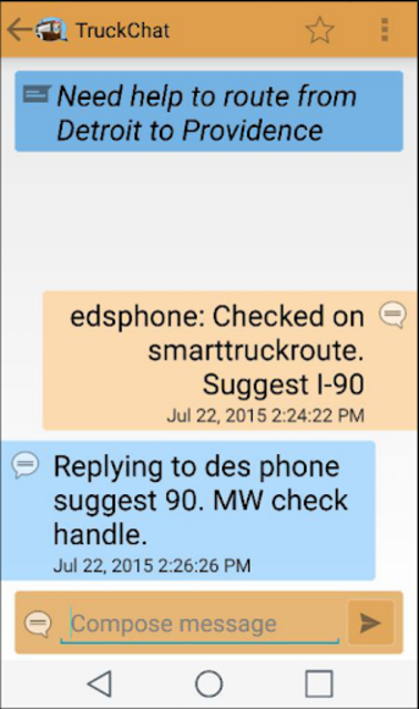 Truck Chat Anonymous, Private, News for Truckers screenshot 4