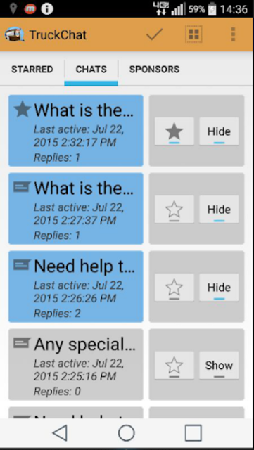 Truck Chat Anonymous, Private, News for Truckers screenshot 21