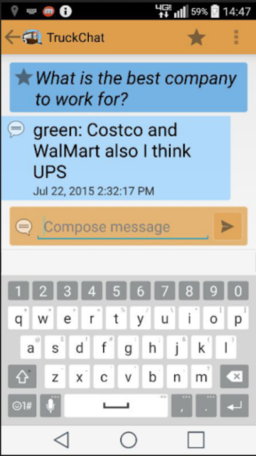 Truck Chat Anonymous, Private, News for Truckers screenshot 11
