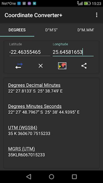 Coordinate Converter Plus screenshot 2