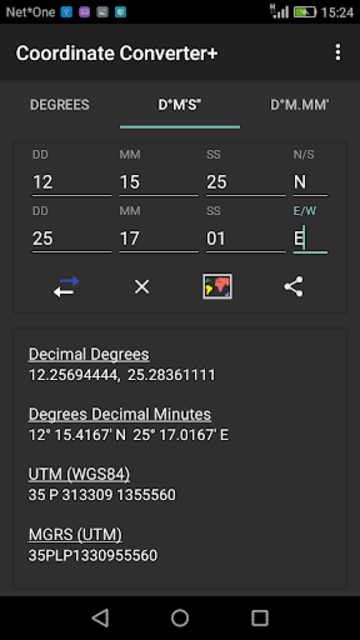 Coordinate Converter Plus screenshot 3