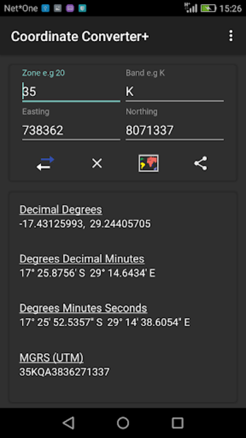 Coordinate Converter Plus screenshot 4